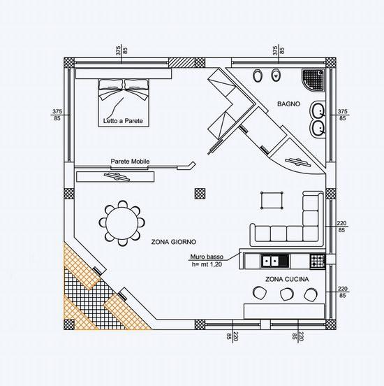 Autocad disegno dwg villetta openspace blog di crisgrafica for Design di mobili cad